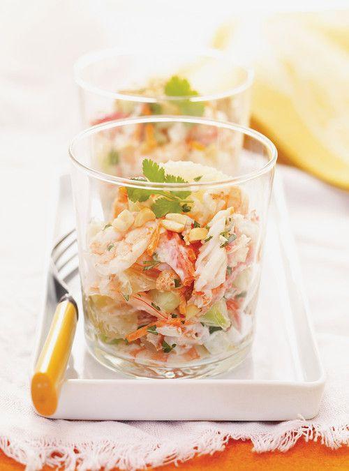 Salade de pomélo et de crabe épicé