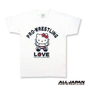 HELLO KITTY × 武藤敬司コラボ Tシャツ ホワイト 全日本プロレス
