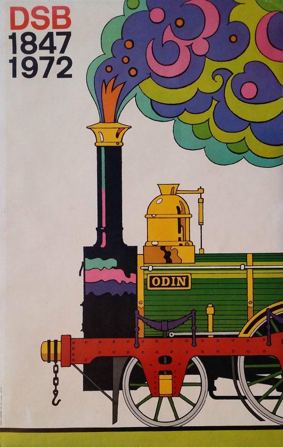 1972 Danish State Railways 125th Anniversary  by OutofCopenhagen