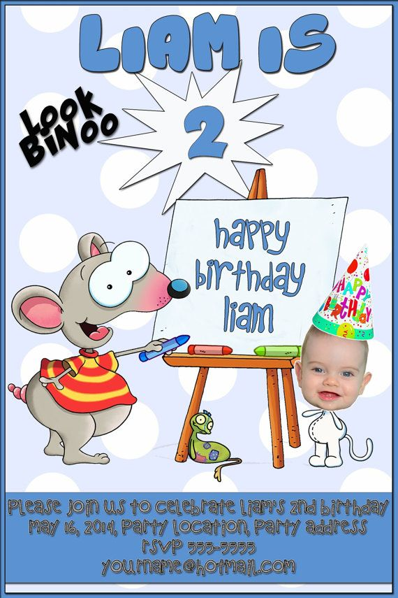 Be Binoo in this Toopy and Binoo Birthday by Printems on Etsy, $11.00