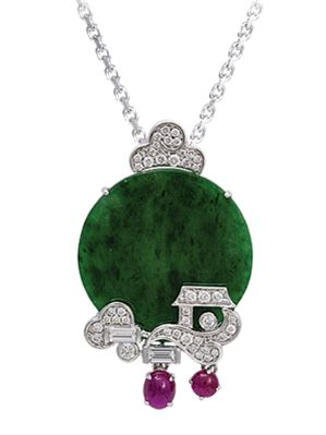 37 best jade images on pinterest gemstones jade jewelry and jadeite ruby diamond pendant aloadofball Gallery