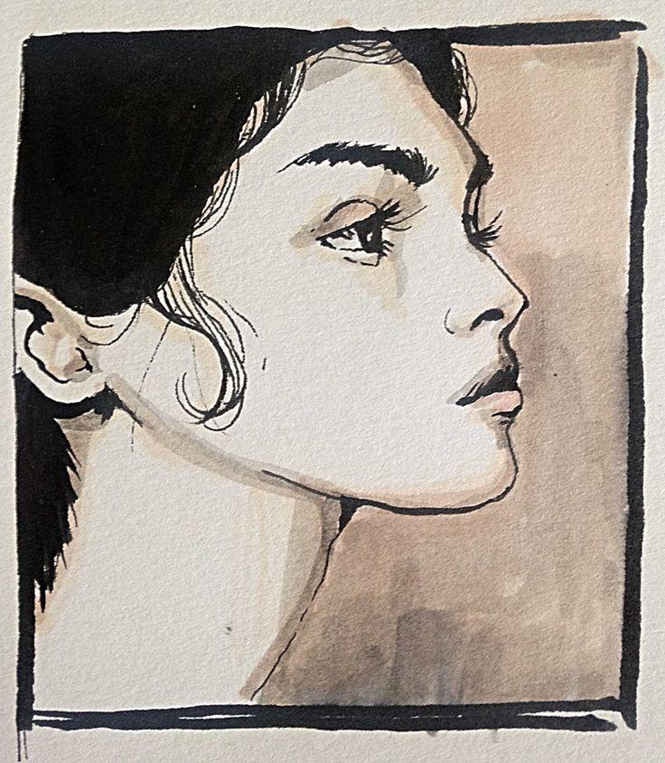#Portrait #drawing of Antonina Vasylchenko