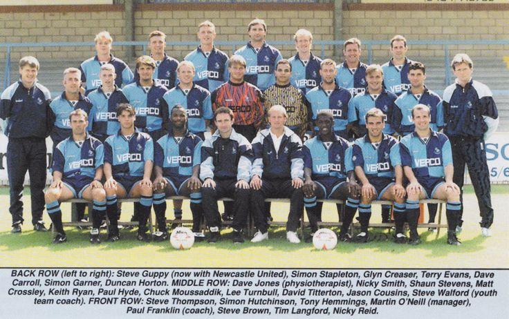 WYCOMBE WANDERERS FOOTBALL TEAM PHOTO 1994-95 SEASON