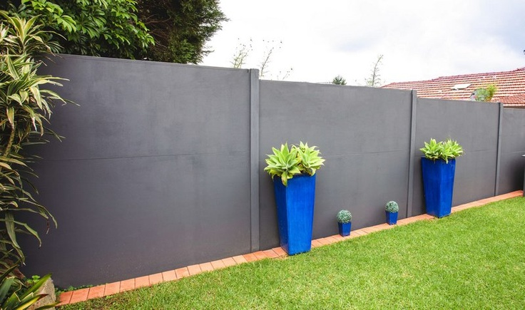 SlimWall Designer Fence with a textured paint finish.  Click on image for more info! www.slimwall.com.au