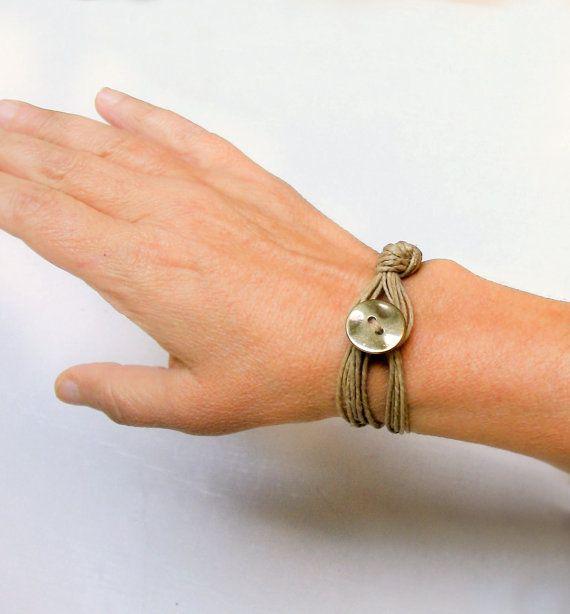 Wikkel Boho armband koord armband hennep koord door myTotalHandMade