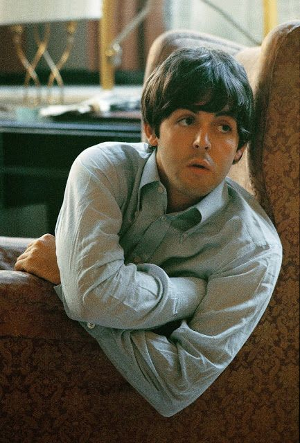 The Beatles Paul McCartney resting in their George V Hotel room, Paris, 1965