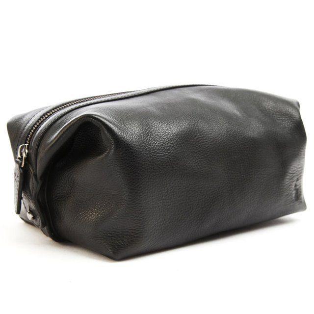 Fancy - Black Leather Washbag by Polo Ralph Lauren