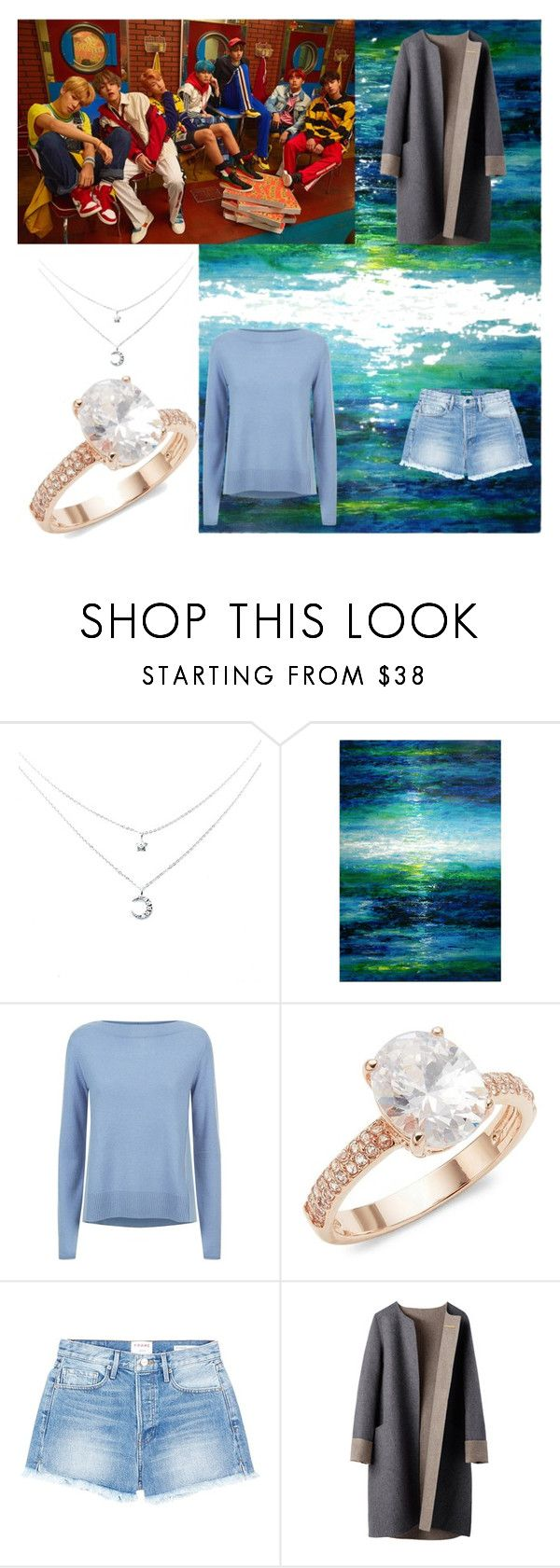 """""""Sea by bts"""" by max1310 ❤ liked on Polyvore featuring Leftbank Art, Escada Sport, Saks Fifth Avenue and Frame"""