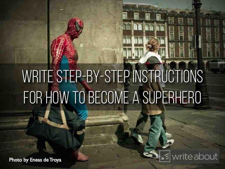 Being a superhero essay