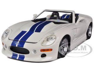 diecastmodelswholesale - 1999 Shelby Series 1 White W/Blue Stripes 1/18 Diecast Model Car by Maisto, $29.99 (http://www.diecastmodelswholesale.com/1999-shelby-series-1-white-w-blue-stripes-1-18-diecast-model-car-by-maisto/)