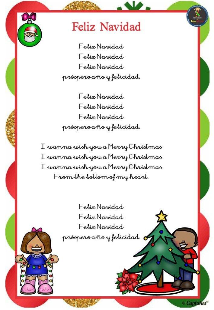 Cuaderno De Villancicos Para Navidad Letras De Canciones Infantiles Villancicos Navidenos Villancico