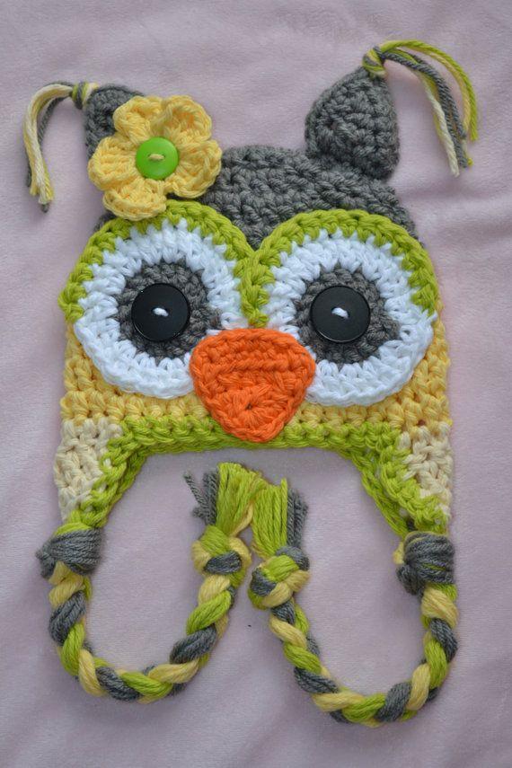 Items similar to crochet owl hat, crochet kids hat, crochet baby hat, owl hat on Etsy