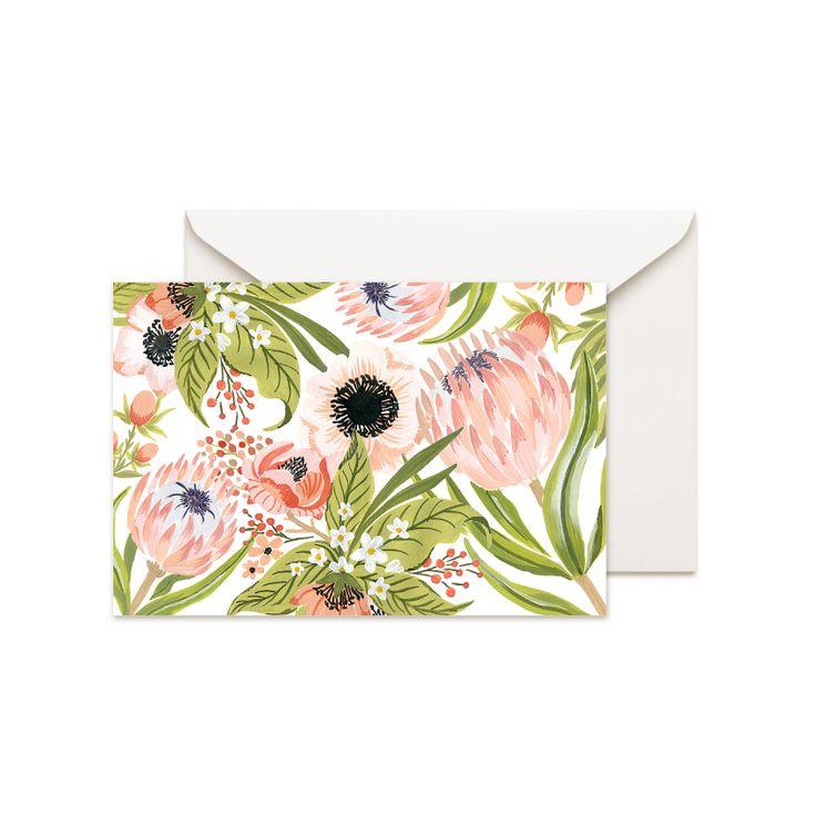 Protea #thepaperhome #art #illustration #artwork #botanics #botanical #drawing #spring #easter #card #greetingcard #postalcard #protea