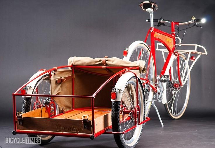Trucker cargo bike That looks like an awesome cargo trailer.