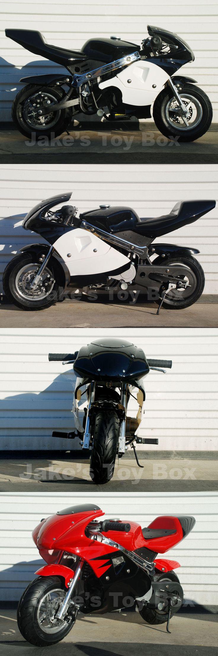 Gas Scooters 75211: 40Cc Pocket Bike Gas Powered Ninja Mini Bike Kids - Black BUY IT NOW ONLY: $290.0