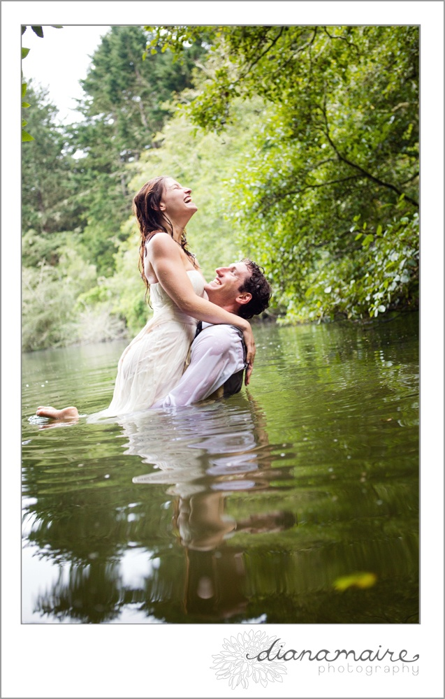 trash the dress... but not with a wedding dress... i love the water shoots, even something grunge and like... the couple was running away from something and only had their love. (shot down at the river, in the mud... or something)