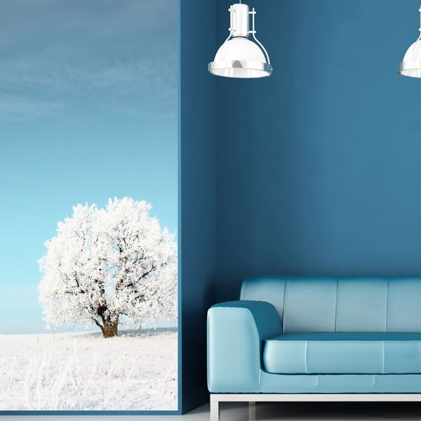 wall panel Blue sky with withe tree