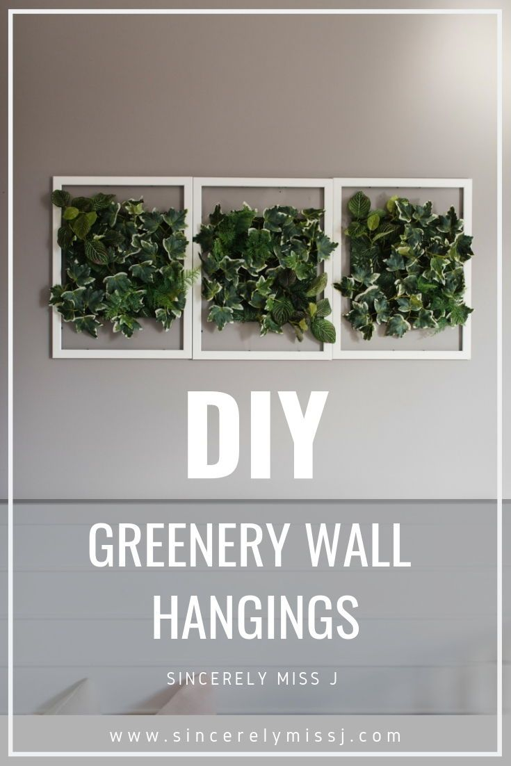 How To Diy Faux Greenery Wall Hanging Greenery Wall Decor Living Wall Diy Wall Decor Bedroom