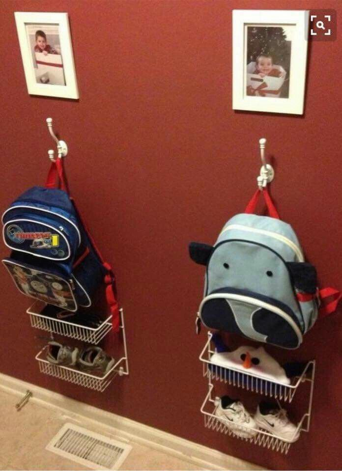Awesome idea to keep kids organized.