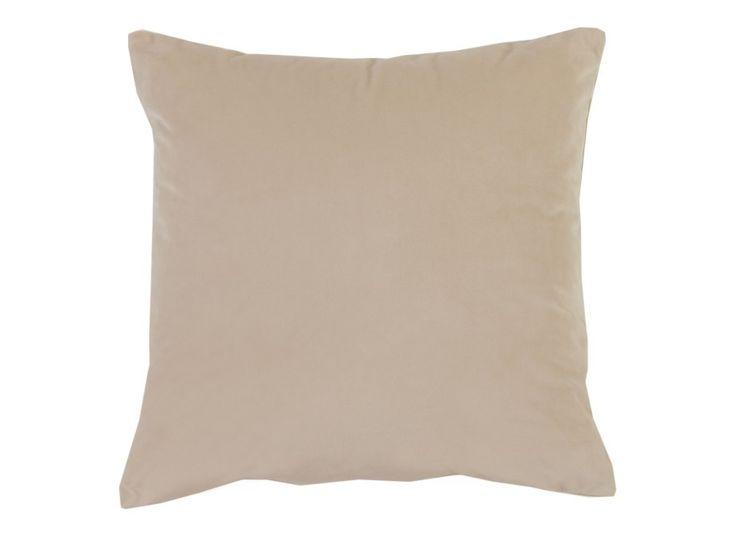 Super Soft Velvet Cushion Cover Stone - A super soft velvet look cushion cover in a natural stone colour.