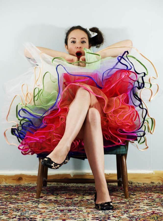 Love the rainbow petticoat!