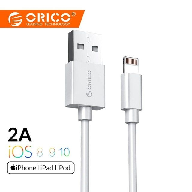 Orico Premium Usb Cable Lighting Cable Fast Charging Data Sync Mobile Phone Cable For Iphone 6 7 Puls Iphone 8 Plus X 1m W Phone Cables Usb Cable Iphone 8 Plus