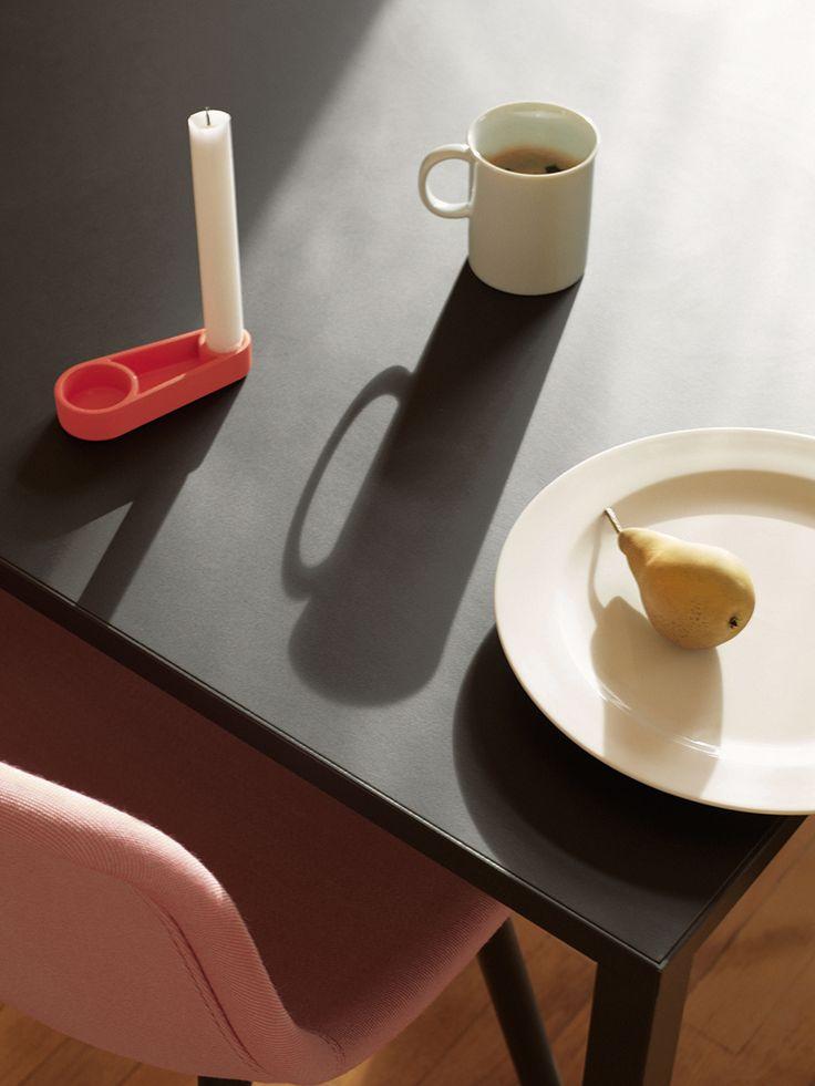 Mediums mug and plate. Kutter candleholder.