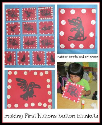 rubberboots and elf shoes: button blankets - a First Nations tradition from the NorthWest Coast                                                                                                                                                                                 More