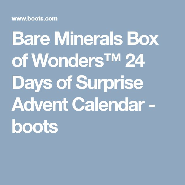 Bare Minerals Box of Wonders™ 24 Days of Surprise Advent Calendar - boots