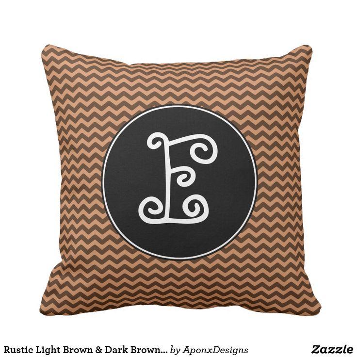 Rustic Light Brown & Dark Brown Wavy Pattern