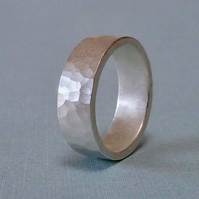 Hammer finish silver ring - Skye Allan Jewellery - skyeallan.com