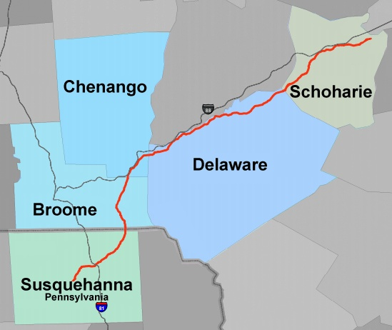 The approximately 120-mile Constitution Pipeline is being designed with a capacity to transport 650,000 dekatherms of natural gas per day (enough natural gas to serve approximately 3 million homes). Buried underground, the 30-inch pipeline would extend from Susquehanna County, Pa., to the Iroquois Gas Transmission and Tennessee Gas Pipeline systems in Schoharie County, N.Y.