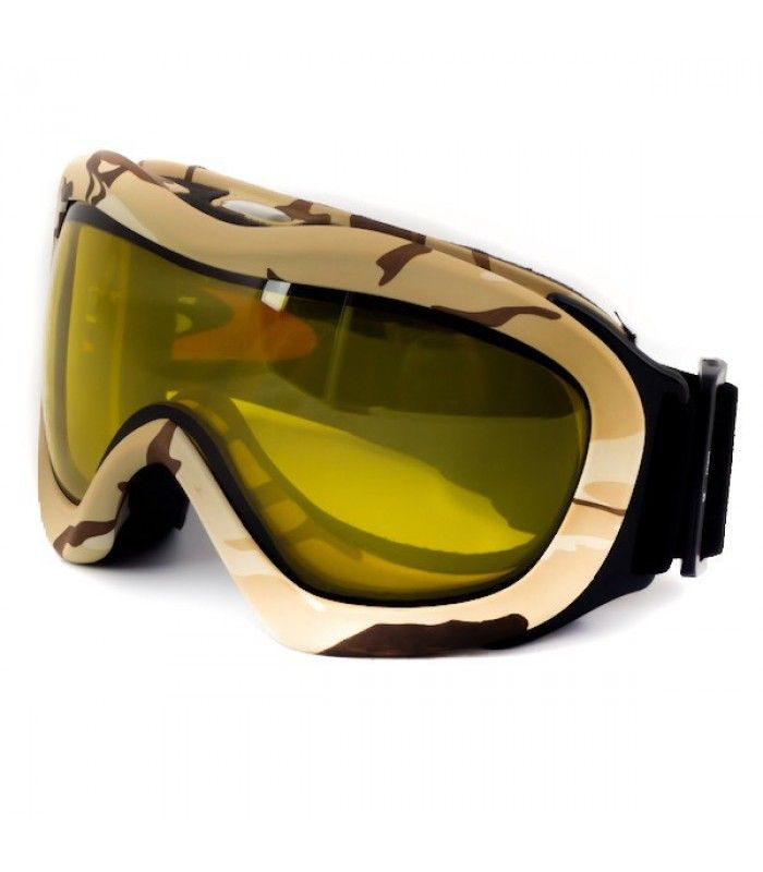 """SOS Desert Storm Goggles are Ideal for desert and/or snowfield conditions. The """"twin lens"""" system employed in the Desert Storm style has a built in anti fog barrier to provide clear, distortion free vision when you need it most."""