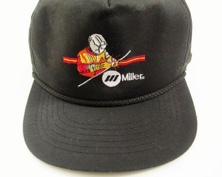 Vintage Miller Welder Snapback Hat by FreshtoDeathVintage on Etsy