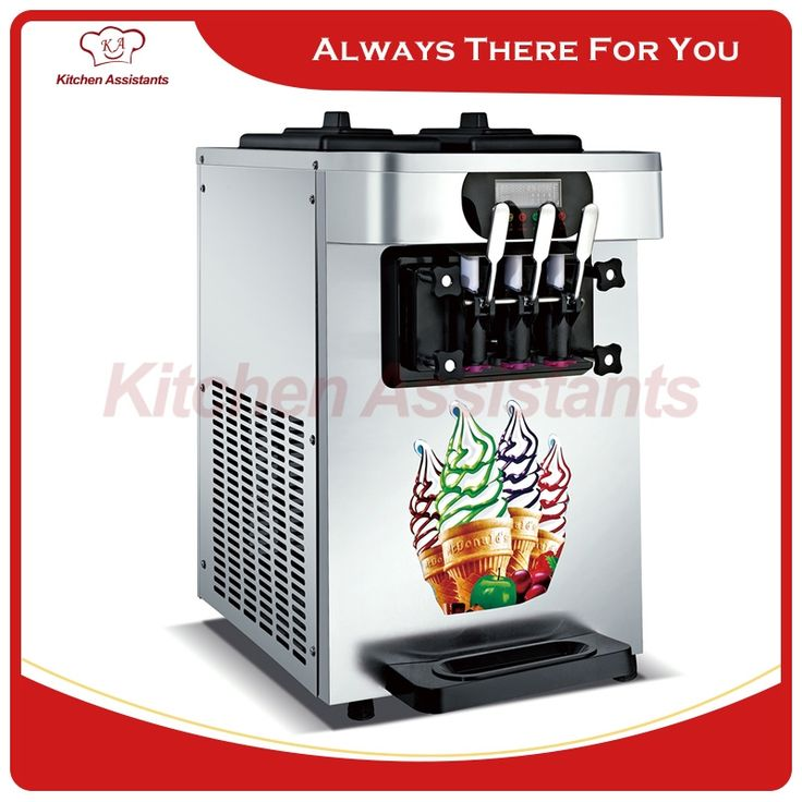 (1255.00$)  Know more  - XQ18X electric counter top commerical ice cream making machine soft ice cream maker