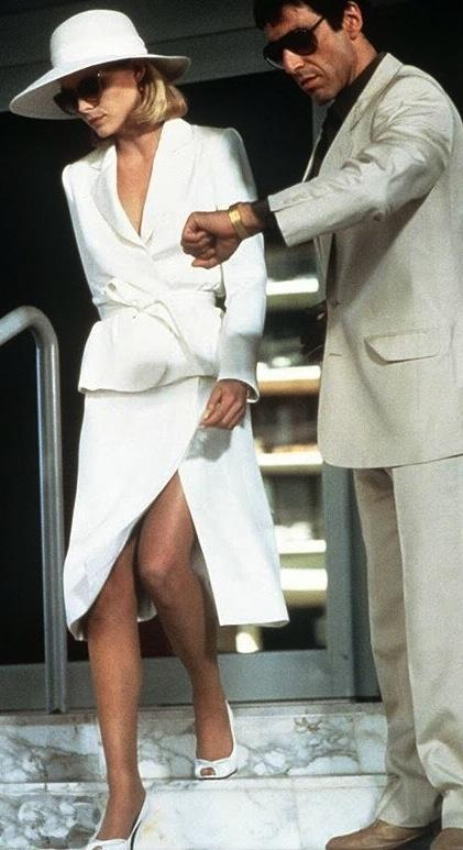 Michelle Pfeiffer & Al Pacino in 'Scarface' (1983). Costume Designer - Patricia Norris.