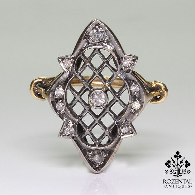 Antique Victorian 18k Gold Diamond Ring