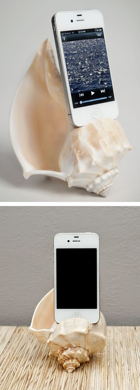 Shell iPhone natural amplifier. It all makes perfect sense!