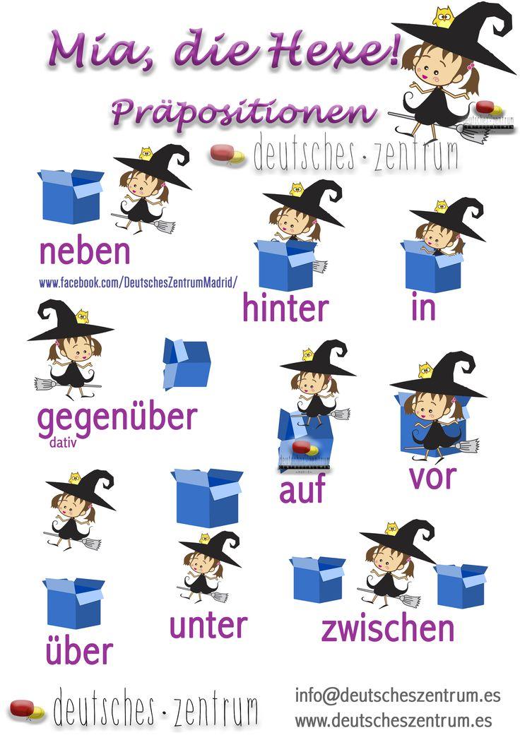 Lokal Präpositionen Deutsch Wortschatz Grammatik Alemán German DAF Vocabulario