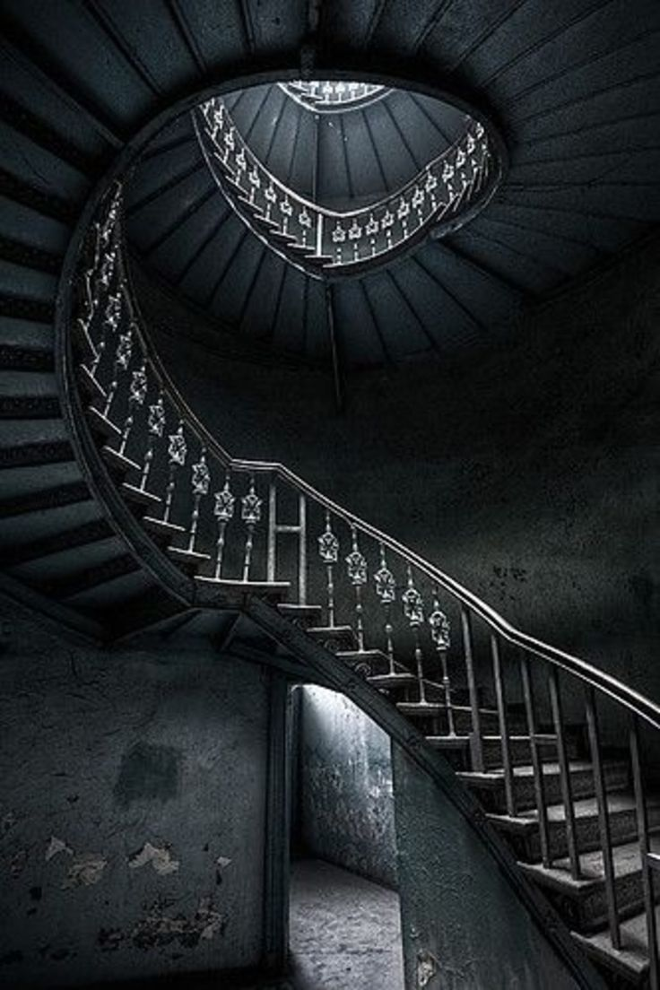37 black 47 amazing staircases you 39 ll want to climb for Spiral stair