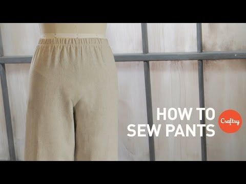 NEW! How to sew pants: Elastic waist wide-leg style | Sewing Tutorial with Angela Wolf - YouTube