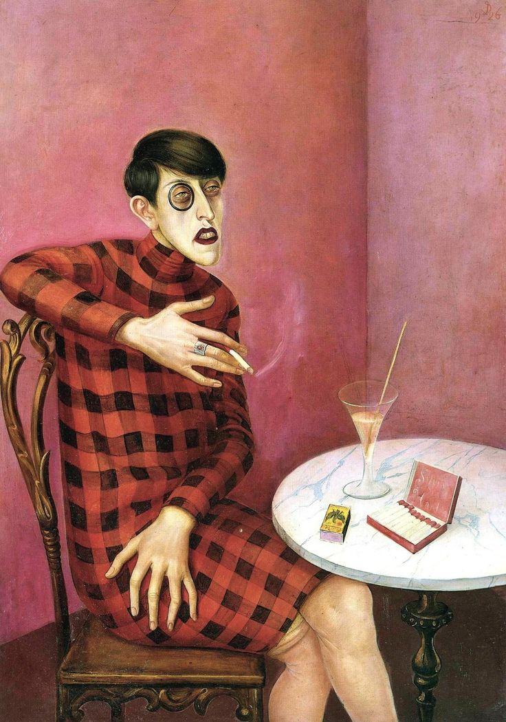 Otto Dix (German; Expressionism, New Objectivity/Neue Sachlichkeit; 1891–1969): Portrait of the Journalist Sylvia von Harden, 1926.