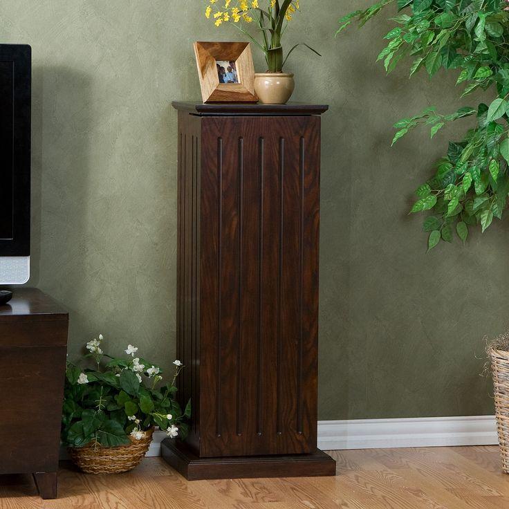 Dark Wood Cd Storage Cabinet