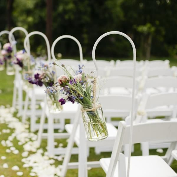 Vintage Outdoor Wedding Decorations Ideas: Details About 2 Tall White Vintage Wrought Iron Outdoor