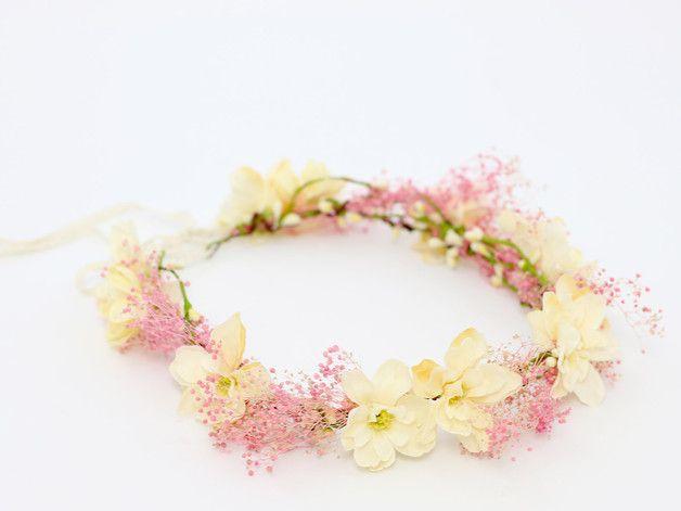 Fiori per capelli - ♥ Corona di capelli ♥ Diademi di fiori ♥ - un prodotto unico di LolaWhite su DaWanda