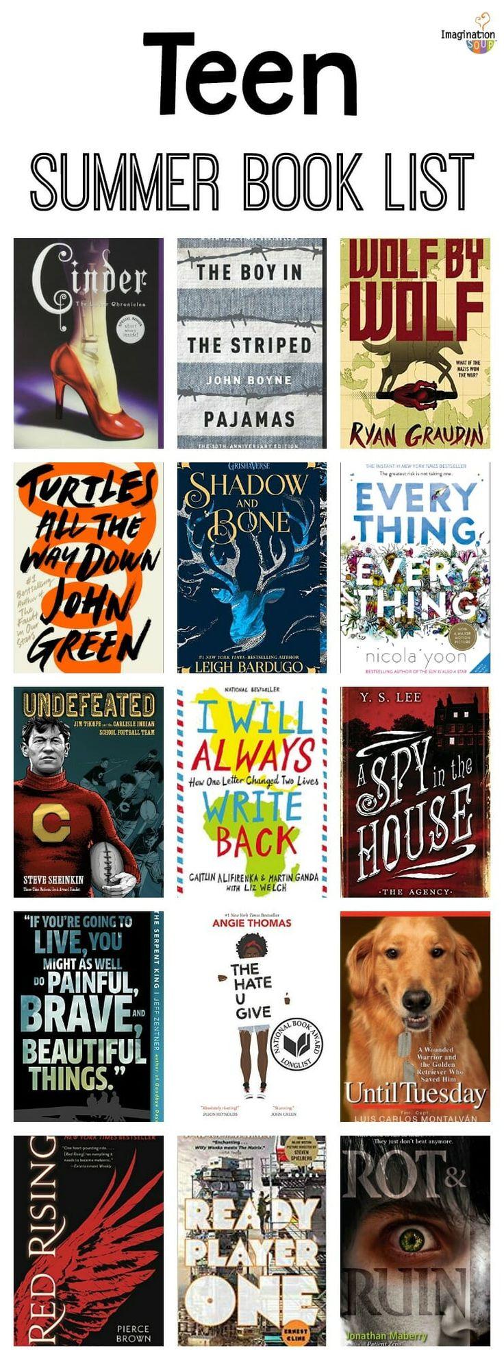 Liste de lecture d'été pour adolescents (13-18 ans)   – School