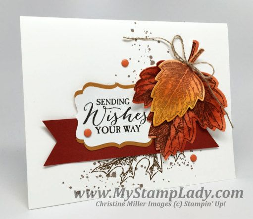 Create a clean and simple card with Stampin' Up!'s Vintage Leaves bundle. Ready to send for your fall stamping. www.mystamplady.com