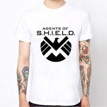 Agentes de S.H.I.E.L.D. escudo vingadores de T camisas de algodão de manga curta Casual O capitão américa T de roupas masculinas //Price: $US $9.99 & FREE Shipping //    #tonystark #blackwidow