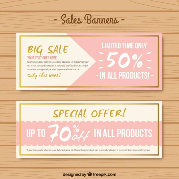 Abstract big sale banners  Free Vector