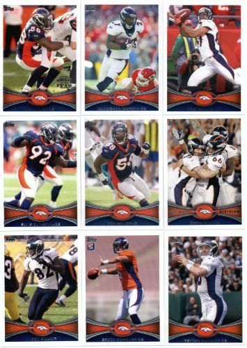 2012 Topps Denver Broncos Team Set (Sealed) - 15 cards including Peyton Manning, Knowshon, Champ Bailey, Osweiler RC, Robinson RC, Hillman RC, Wolfe RC, Von Miller & more ! by 2012 Topps. $12.95. 2012 Topps Denver Broncos Team Set (Sealed) - 15 cards including Peyton Manning, Knowshon, Champ Bailey, Osweiler RC, Robinson RC, Hillman RC, Wolfe RC, Von Miller & more !